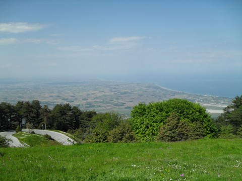 Paralia resort as seen from Olympus